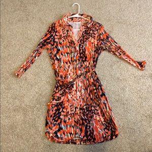 CAbi 3/4 Sleeve Shirt Dress Style 374